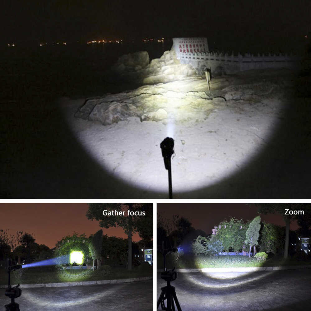 Wysoka latarka elektryczna led lampa zoom cree Xhp70 latarka wodoodporna latarka Lanterna linterna 18650 baterie latarka zaklamp