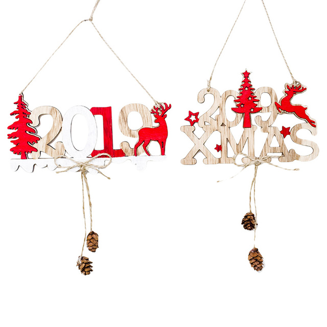 christmas door signs new year 2019 xmas door wall hanging decorations for home office cafe restaurant - Christmas Hanging Decorations