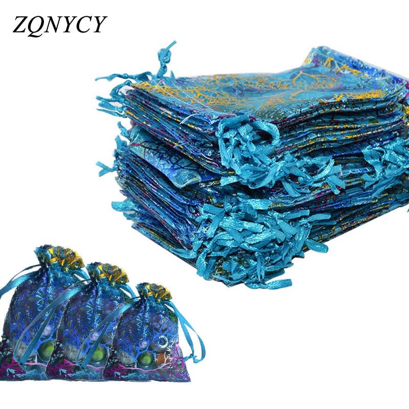 20Pcs / lot 7x9,9 * 12,10 * 14cm Organza Çantaları Toy Festivalı - Şənlik aksesuarları - Fotoqrafiya 1