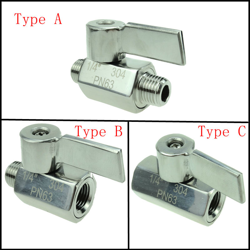 Stainless Steel 304 1/8 1/4 3/8 1/2 Male /Female/Male Female BSP Thread Mini Ball Valve 2 1 2 male x 1 1 2 female thread reducer bushing m f pipe fitting ss 304 bsp page 7