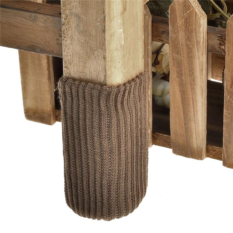 Möbel Beine 4 Stücke Stuhl Bein Socken Tuch Boden Schutz Stricken Wolle Socken Anti-slip Tisch Beine Möbel Füße Hülse Abdeckung Katze Kratzen