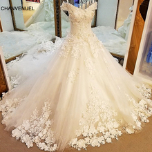 LS55585 Rhinestone wedding dress lace up back sweeheart ball gown luxury crystal wedding dress long train real photos casamento