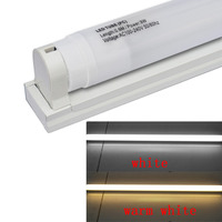 JIAWEN LED T8 Tube 600mm 9W 800lm White Milky Cover W T8 Tube Fixture Support Bracket