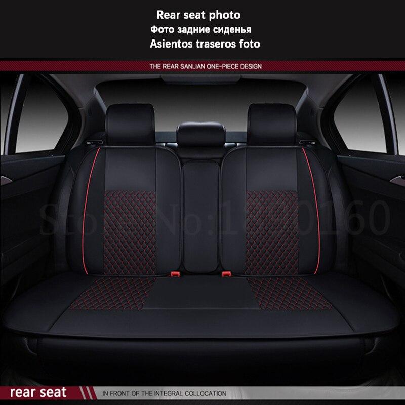 (Avant + arrière) housses de siège de voiture en cuir spécial pour BMW e30 e34 e36 e39 e46 e60 e90 f10 f30 x3 x5 x6 accessoires de voiture style auto - 6