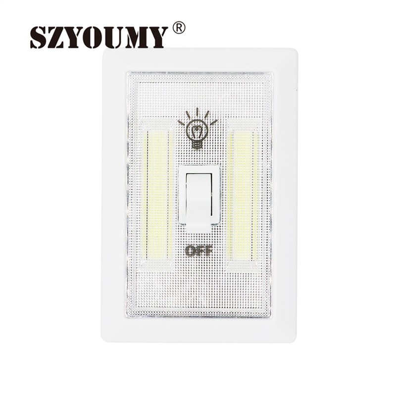 Garage Lights That Come On At Night: SZYOUMY 200PCS Magnetic Mini Cob Led Cordless Light Switch