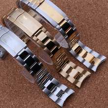 Fashion Brand style Watchband Accessories for Rolexwatch 20mm Silver gold MEN Watch Straps bracelets Promotion free shipping
