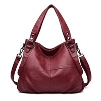 2019 Luxury Handbags Women Bags Designer High Quality Leather Shoulder Bag Female Sac A Main Casual Tote Bag Ladies Vintage Sac