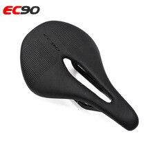 Selle de vélo de route en carbone EC90 + cuir selle de vélo vtt selle de course VTT PU coussin de siège souple respirant ultra-léger