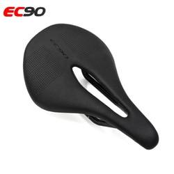 EC90 Carbon + skórzane siodełko do roweru szosowego rower mtb siodła rower górski wyścigi siodło PU Ultralight oddychająca miękka poduszka siedziska|Siodełka rowerowe|   -