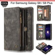 Caseme Роскошные сумка чехол для телефона для Samsung Galaxy S8 и S8 плюс кошелек кожаный чехол флип для Samsung Galaxy S 8 плюс S8Plus крышка