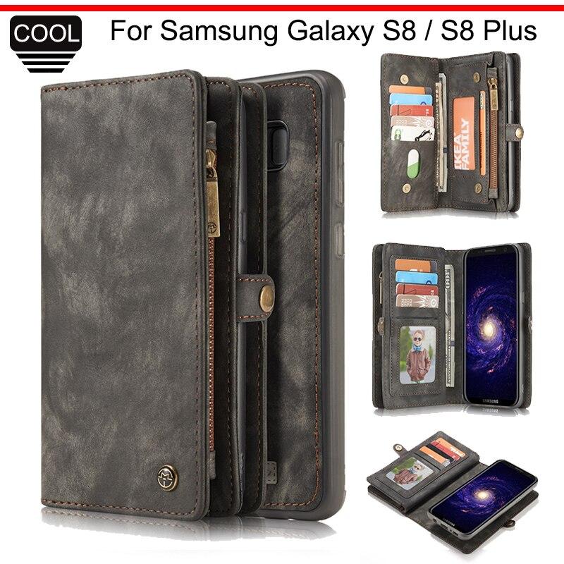 imágenes para CaseMe de Lujo Caja Del Teléfono Del Bolso Para Samsung Galaxy S8 y S8 Más Tirón de la carpeta Cubierta de Cuero Para Samsung Galaxy S 8 Más Cubierta S8Plus
