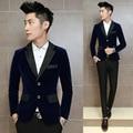 3 a Cor do Terno Homens jaqueta de 2016 Nova blazer masculino magro fit moda casual terno do casamento dos homens Plus Size roupas de marca D015