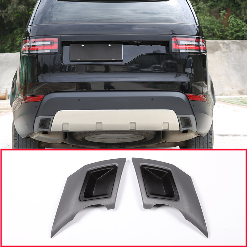 ABS Car Tail Throat Exhaust Plate Protection Cover Trim For Land Rover Discovery 5 S/SE LR5 2017 2018 Car Accessories abs car tail throat exhaust plate protection cover trim for land rover discovery 5 s se lr5 2017 2018 car accessories