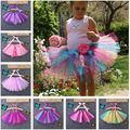 Cute Toddler Girls Kids Chlidren Ballet Tutu Skirt Candy Color Dancewear Skate Ball Gown Dance Costume 0-8Y