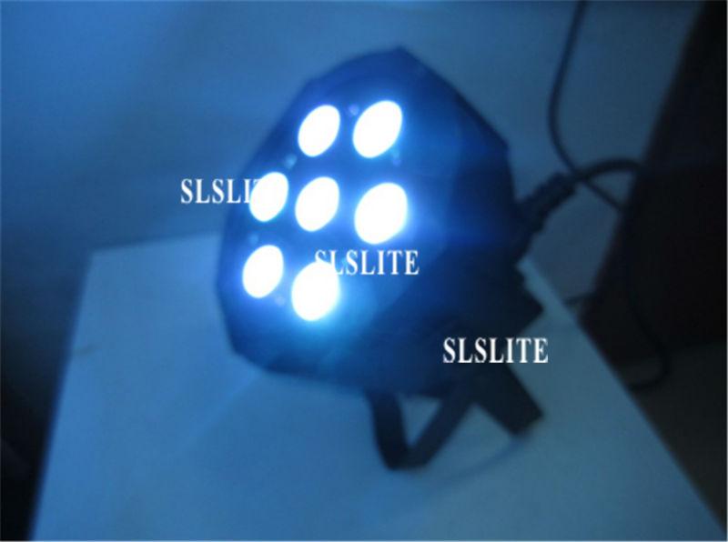 10PCS/LOT with flight case 10W*7Pcs 4in1 Quad LEDs RGBW New adj Mega Quad Par Profile DMX Flat Par Light Stage Lighting