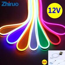12V LED Strip Waterproof SMD2835 Lighting Flexible DC 12V Low Voltage LED Neon Light Belt Ambilight with Suitable Transformer цена и фото