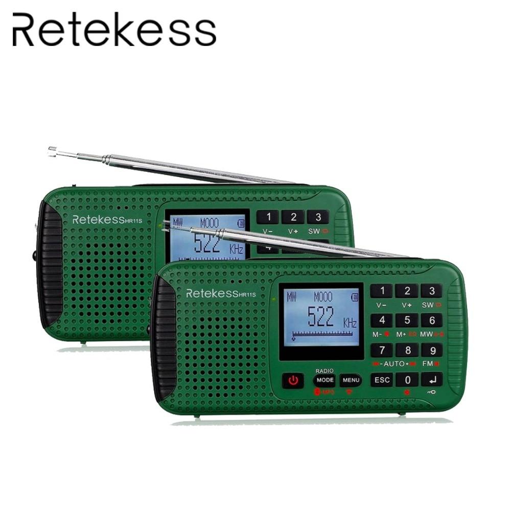 Radio 2 Stücke Retekess Hr11s Digital Recorder Tragbare Fm/mw/sw Handkurbel Solar Notfall Alarm Radio Station Bluetooth Musik F9208g Unterhaltungselektronik