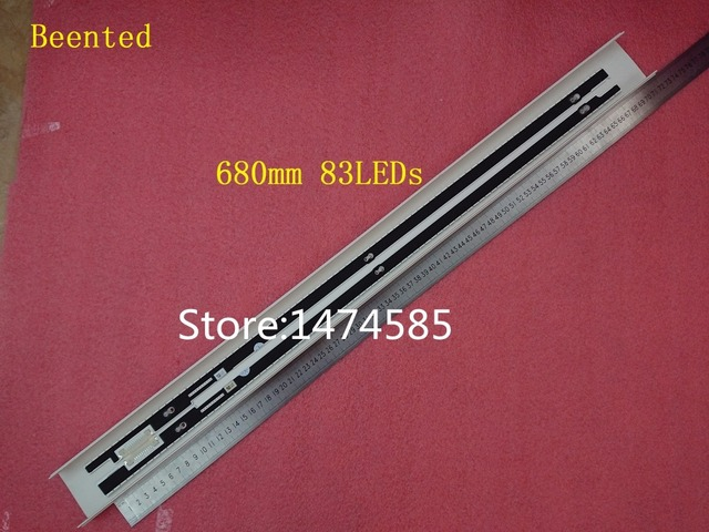 Baru 2 Pcs * 83 LED 680 Mm 25447A 25448A Strip LED untuk Samsung TV UA55F7500BJ CY-SF550DSAV1H CY-SF550DSLV2H 2013SVS55 7032NNB
