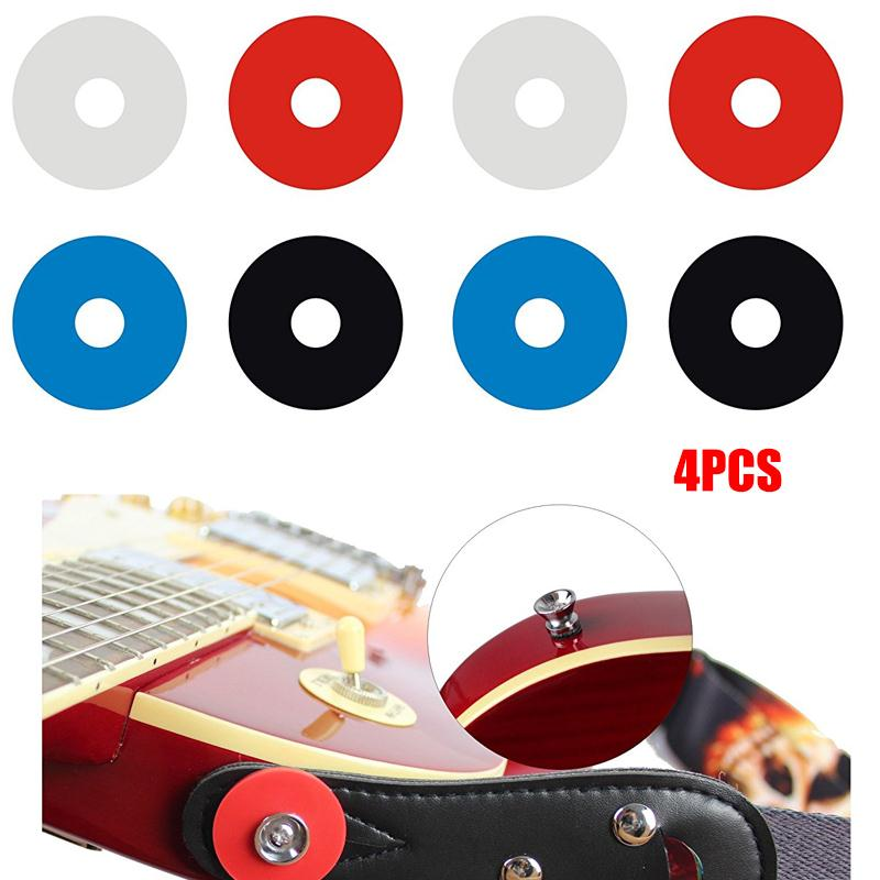 Yuker  4Pcs Guitar Strap Locks Blocks Silicone Soft Anti Slip Tail Nail Buckle Parts