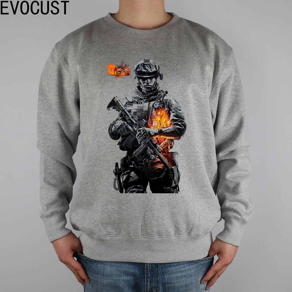 BATTLEFIELD powerful military engine game around men Sweatshirts Thick Combed Cotton image