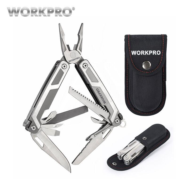 WORKPRO 16 in1 Multi-Plier multifunción herramientas con tijeras cuchillo VI destornillador