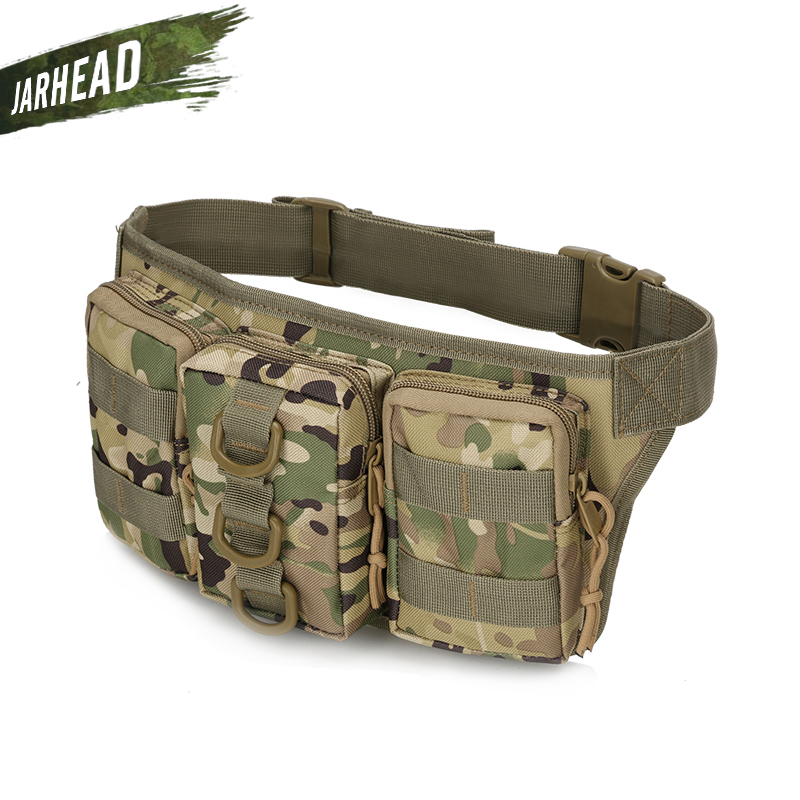 Tactical Waterproof Men Waist Pack Hiking Nylon Waist Bag Outdoor Army Military Hunting Sports Climbing Camping Waist Pockets