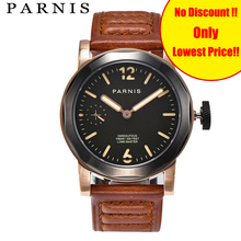 43mm Parnis Casual Watch Men Mechanical Hand Winding Watches Seagull 3600 Movement Stainless Steel Case Rose Gold Man Wristwatch