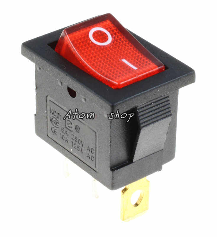 1 шт. вкл/выкл прямоугольный рокер переключатель автомобиля Dash KCD1 3P 220v