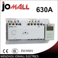 630A 4 Poles 3 Phase Automatic Transfer Switch Ats With English Controller