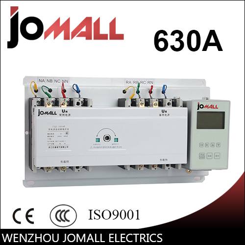 630A 4 poles 3 phase automatic transfer switch ats with English controller цена