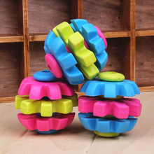 1 Piece Three Colors Rotation Ball Toys For Dog TPR Pet Ball Gear Chew Toys Puppy Funny Ball Toys