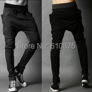Горячие продажи Middlelowlevel мужчины брюки большой карман мужской малоэтажных брюки узкие брюки шаровары мужчин