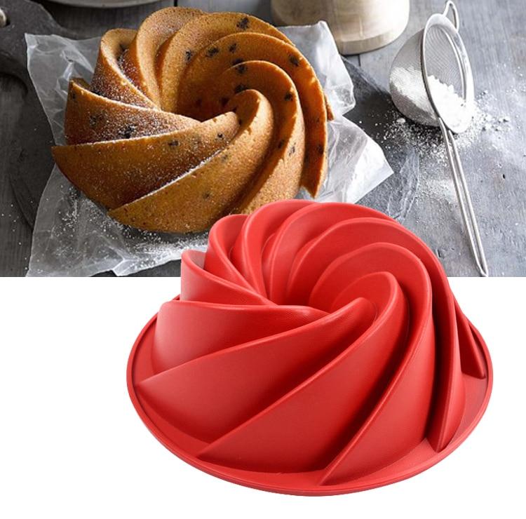 9 76 Inch Large Spiral Shape Silicone Bundt Cake Pan