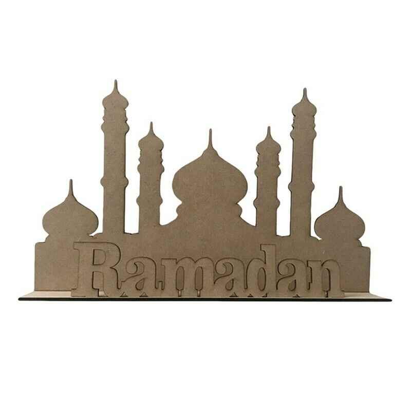 1 Chiếc EID Mubarak Ramadan Gỗ Nhà Đảng Vật Trang Trí Trang Trí Hồi Giáo Hồi Giáo Tặng Bàn Làm Việc Thủ Công DIY Lễ Hội Cung Cấp