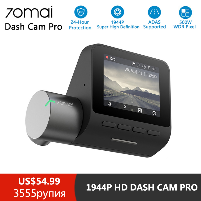 Xiaomi 70mai Pro Dash Cam Full HD 1944P Camera Recorder GPS ADAS 70 Mai Wifi Dvr Car