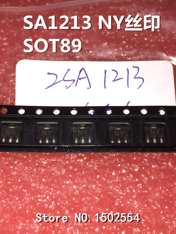 50PCS/LOT 2SA1213-Y 2SA1213 A1213 SOT-89 Silk Screen NY 2A/50V SMD Transistors