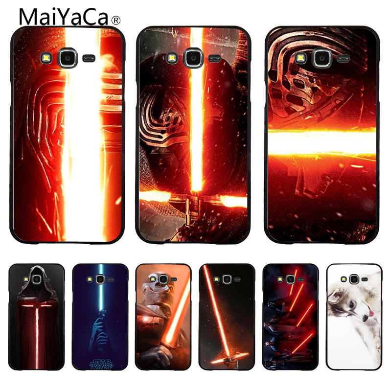 MaiYaCa lightsaber red Plastic Hard black Phone Case Cover For Samsung Galaxy S6 S6 Edge S7 S7 Edge Mobile phone cover