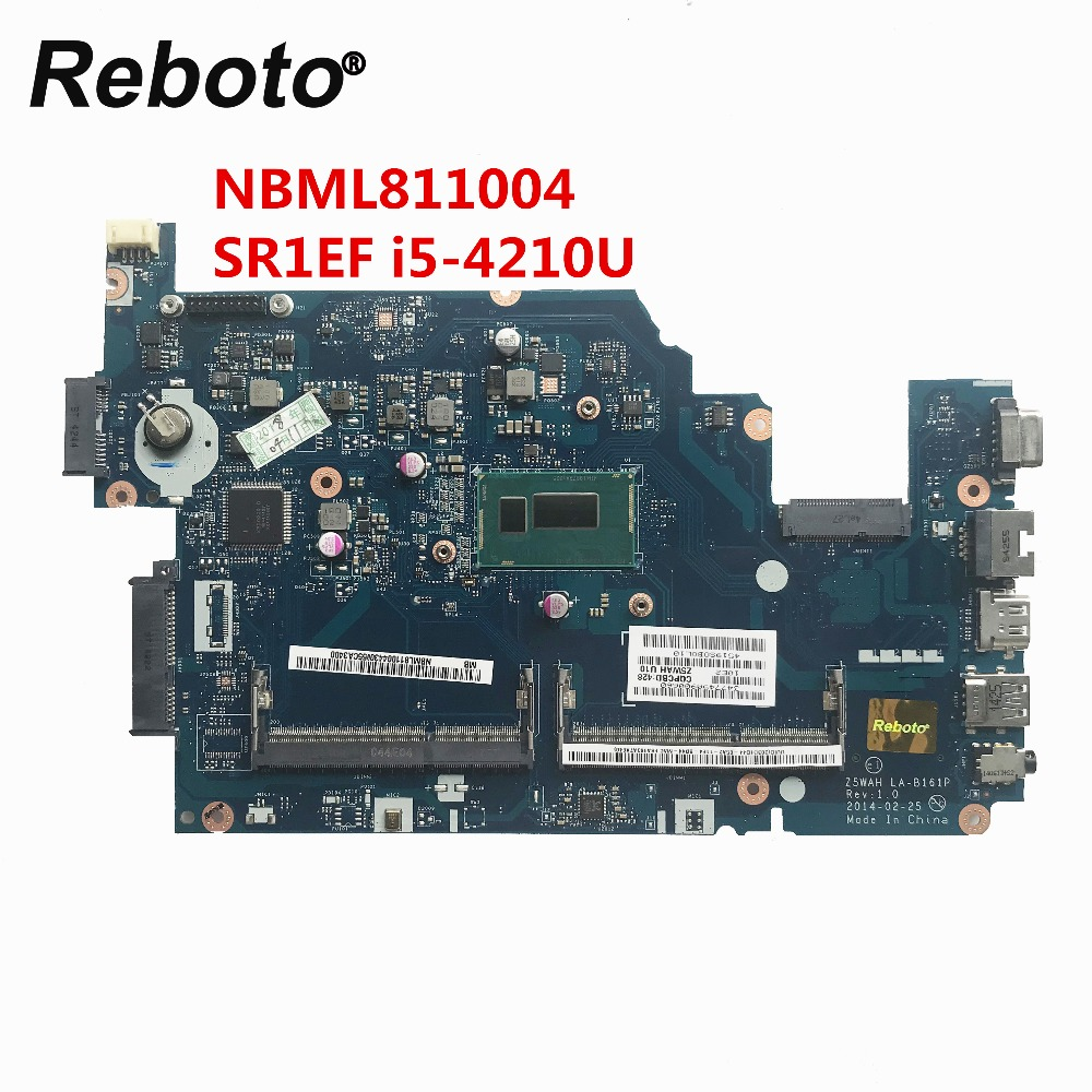 Reboto FOR ACER E5 571 E5 571P 15 6 Inch Laptop Motherboard DDR3L i5 4210U NBML811004
