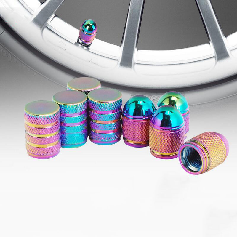 4Pcs/Lot Car-Styling Wheel Tyre Valve Stems Caps Colour Covers With Car Logo Emblem Badge Brands Tire Cap Auto Accessories