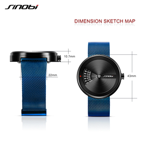 Image 5 - Sinobi Mens Fashion Horloges Originele Ontwerp Creative Horloge Roestvrij Staal Mesh Strap Mens Business Horloge Relogio Masculino