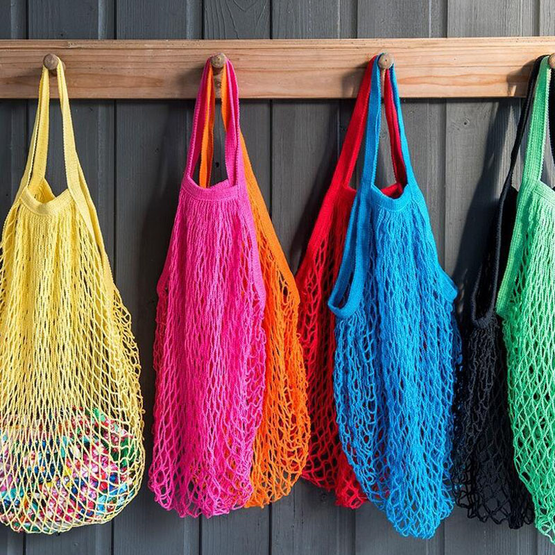 Fashion Shopping Bag Women Handbag Tote Reusable Grocery Bags Beach Mesh Bag fruit candy gift bag wedding party decoration