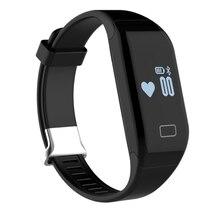 H3 сердечного ритма трекер Smart Браслет Фитнес с Шагомер калорий сна Мониторы малоподвижный напоминание для андроид iOS