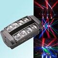 Светодиодный мини-светильник, 8x10 Вт, RGBW, с движущейся головкой, DMX, луч, движущаяся головная лампа, вечерние мероприятия, шоу, светильник, дидж...