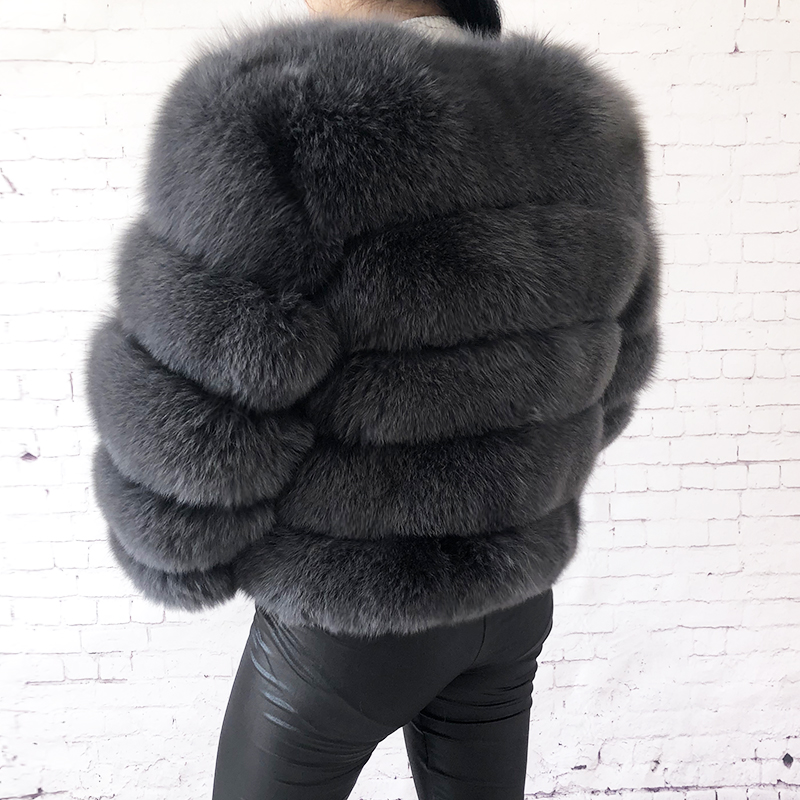 2019 new style real fur coat 100% natural fur jacket female winter warm leather fox fur coat high quality fur vest Free shipping 131