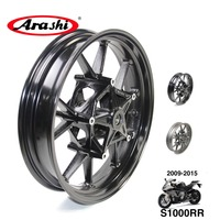 Arashi OEM S1000RR 09 15 Front Wheel Rim Rims For BMW S 1000RR 1000 RR 2009 2015 15 14 13 12 11 10 09 Glossy Black S 1000RR