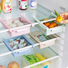 High Quality Creative Refrigerator Storage Box Fresh Spacer Layer Storage Rack Pull-out Drawer Fresh Spacer Sort Kitchen Supplie(China)