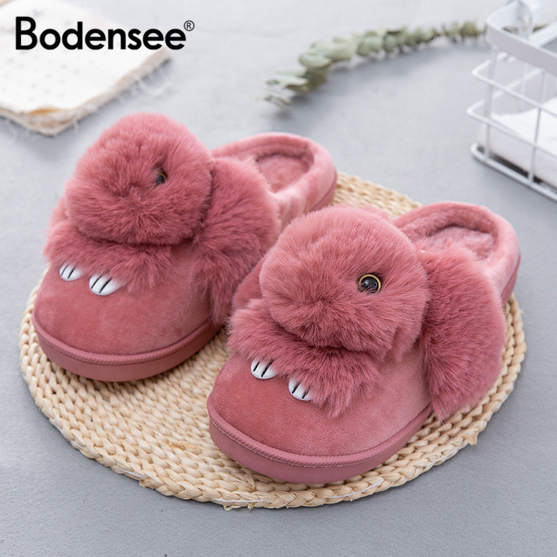 BODENSEE Women Cotton Slippers Family Floor Soft Slippers Female Warm Shoes Ladies Indoor Slippers Plush S0023BODENSEE Women Cotton Slippers Family Floor Soft Slippers Female Warm Shoes Ladies Indoor Slippers Plush S0023