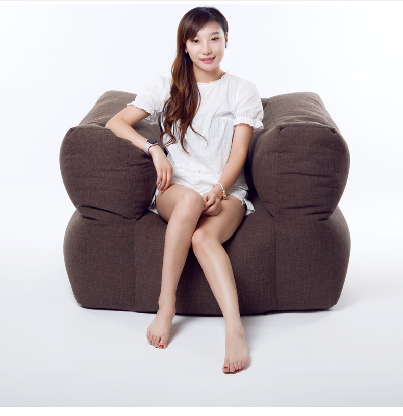 Cover Only No Filler WITH STOOL Living Room Bean Bag Armchair, Adults  Beanbag Sofa Lounger In Living Room Sofas From Furniture On Aliexpress.com  | Alibaba ...