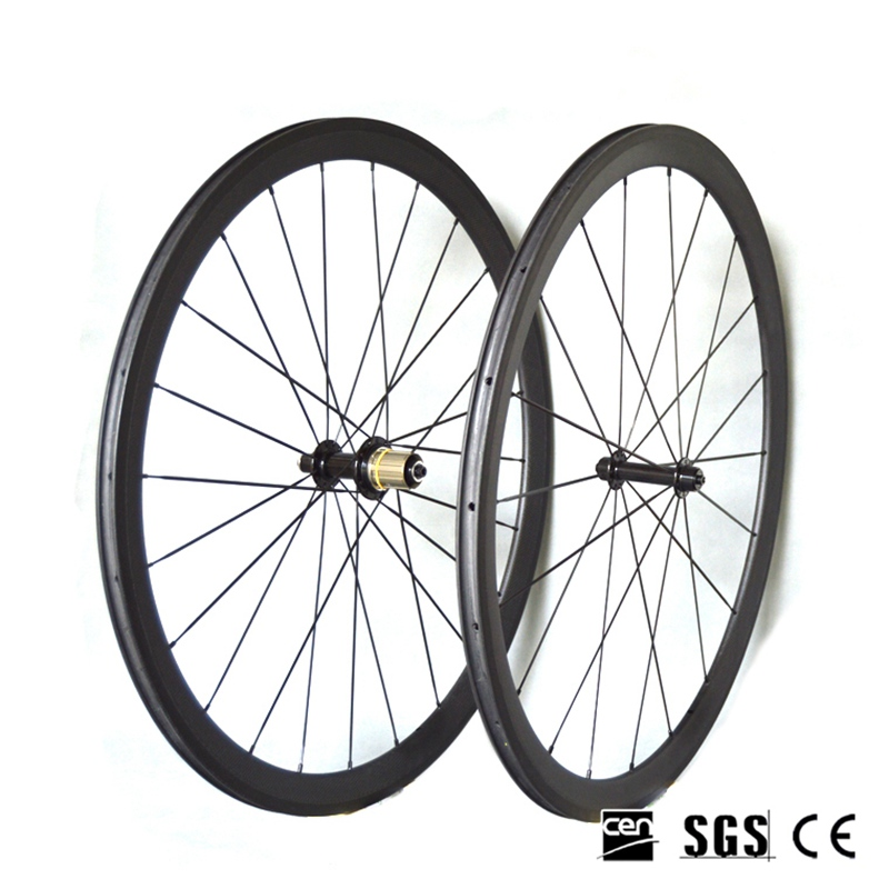 Bicycle Wheelset 700*23c 38mm Depth Full Carbon Bike Wheels UD Matte Clincher/Tubular NOVATEC271/372 Bicycle Hubs mountain bike four perlin disc hubs 32 holes high quality lightweight flexible rotation bicycle hubs bzh002