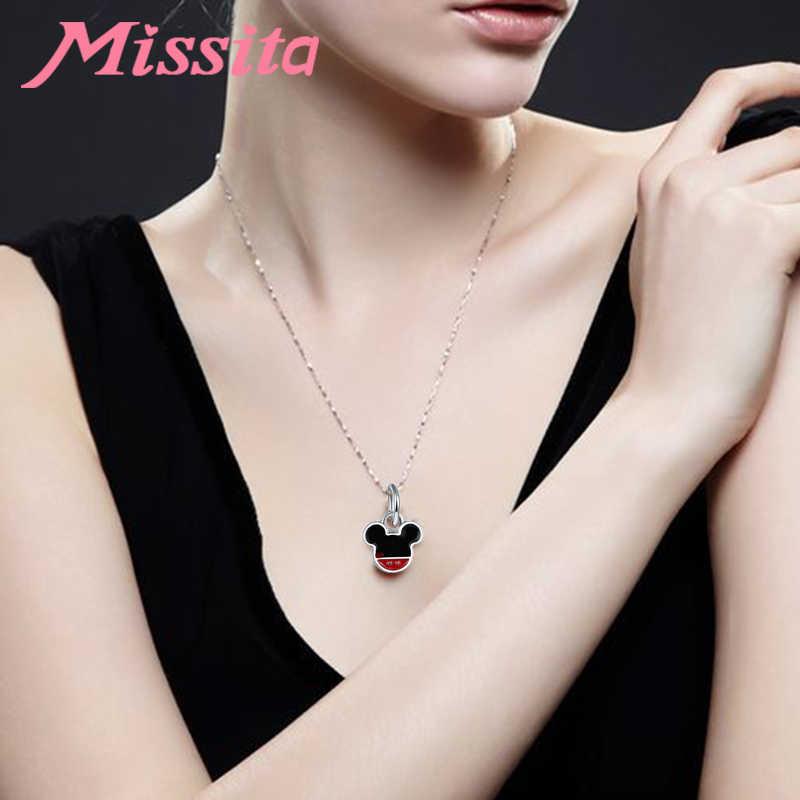 MISSITA נשים אופנה חמוד מיקי קסמי fit פנדורה צמידים ושרשרות עבור תכשיטי ביצוע גבירותיי תכשיטי אבזרים